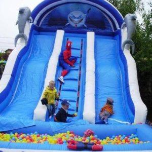 Gonflabile organizare spectacole evenimente firma petreceri copii clovni modelare baloane face painting teatru papusi Mos Craciun personaje poveste