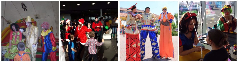 clovn organizare spectacole evenimente firma petreceri copii clovni modelare baloane face painting teatru papusi Mos Craciun personaje poveste